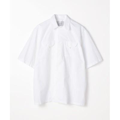 【トゥモローランド】 BAGUTTA コットン ダブルポケットショートスリーブシャツ メンズ 11ホワイト 40 TOMORROWLAND