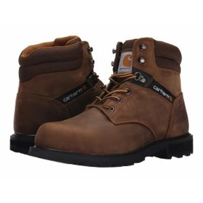 """カーハート メンズ ブーツ・レインブーツ シューズ Traditional Welt 6"""" Steel Toe Work Boot Crazy Horse Brown Leather"""