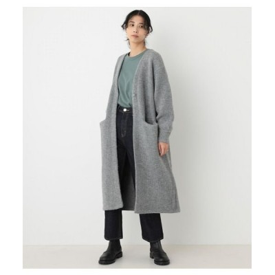 (BLACK BY MOUSSY/ブラックバイマウジー)aze knit long cardigan/レディース GRY