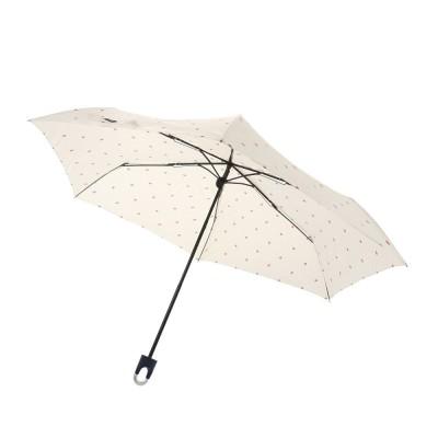 CRUX雑貨53.5cm カラビナ付き手元折傘 HEARTDROP WH CR 431852ホワイト