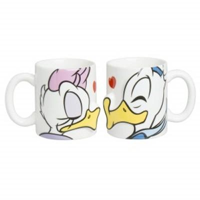 【送料無料】ディズニー ドナルド&デイジー キス ペア マグカップ 280ml SAN2229 サンアート sunart Disney おしゃれ かわいい プレゼン