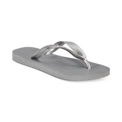 ハワイアナス レディース サンダル シューズ Women's Top Tiras Flip-Flops Steel Grey
