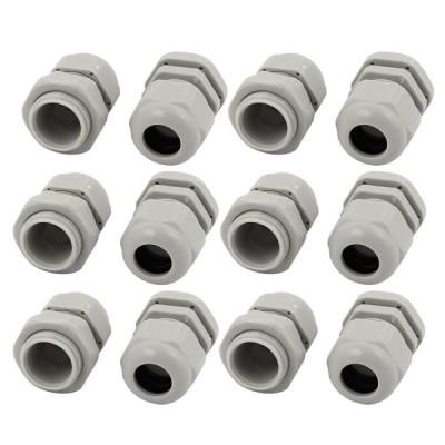 uxcell ケーブルグランド プラスチック製 調節可能 123g ホワイト M20x1.5タイプ 12個入