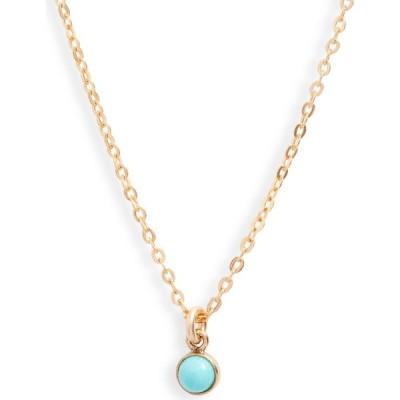 セットアンドストーンズ SET & STONES レディース ネックレス ジュエリー・アクセサリー River Turquoise Pendant Necklace Gold