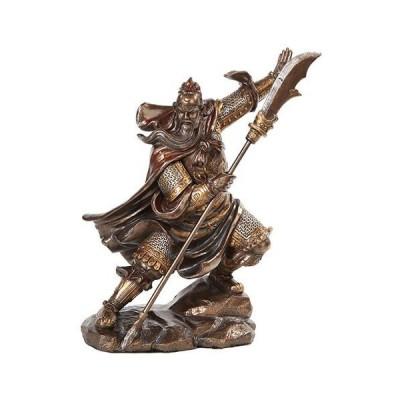 13 Inch Guan Yu Chinese Fighting Warrior Resin Statue Figurine