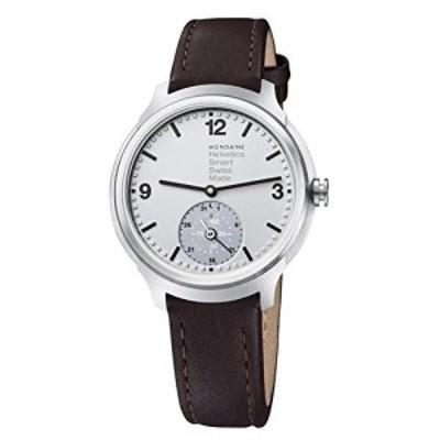 腕時計 モンディーン 北欧 Mondaine Men's Helvetica Stainless Steel Quartz Watch with Leather Strap,