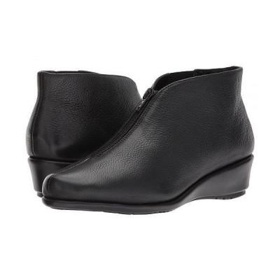 Aerosoles エアロソールズ レディース 女性用 シューズ 靴 ブーツ アンクルブーツ ショート Allowance - Black Leather