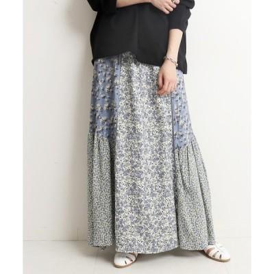 スカート Deveaux マルチパターンスカート【ウエストゴム/手洗い可能】◆