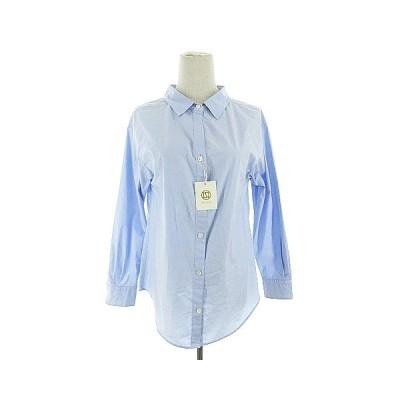 【中古】未使用品 ルスーク Le souk シャツ 長袖 36 青 ブルー /AAM2 レディース 【ベクトル 古着】