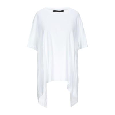 フェデリカ・トシ FEDERICA TOSI T シャツ ホワイト 42 コットン 70% / ナイロン 27% / ポリウレタン 3% T シャツ