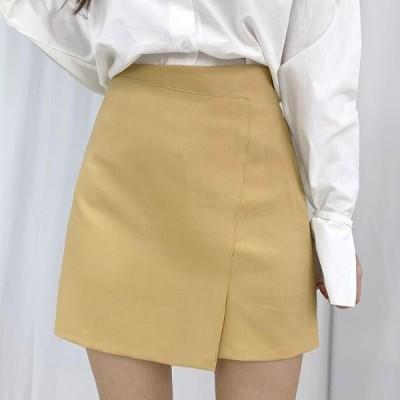 BULLANG GIRL レディース スカート Angle split mini skirt