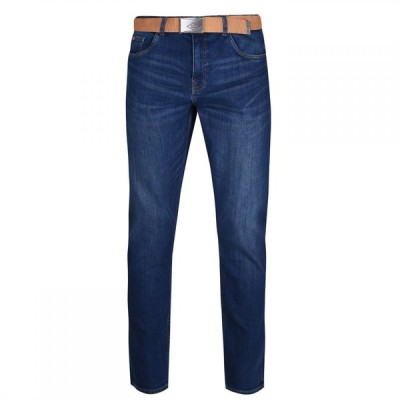 リークーパー Lee Cooper メンズ ジーンズ・デニム ボトムス・パンツ Belted Jeans Dark Wash