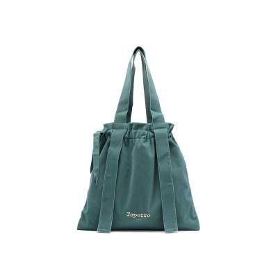 【ギャレリア】 レペット トートバッグ Repetto バッグ Rondo tote bag with knots Cotton Green Grey Bordeaux 512 レディース グリーン F GALLERIA