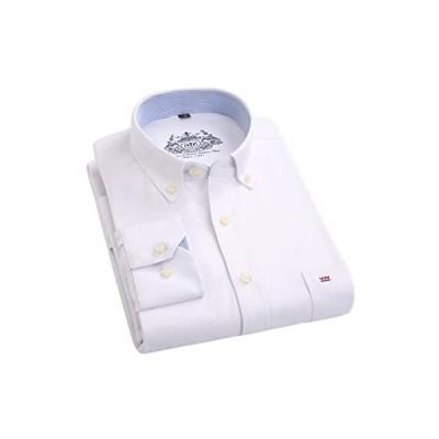 (ワイ-ミー)Y-ME Y-ME 長袖ワイシャツカジュアルビジネス紳士長袖シャツ 選択する13色 形態安定 (ホワイト 38)
