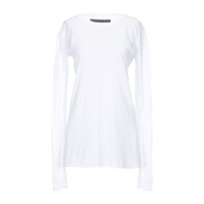 ENZA COSTA T シャツ ホワイト L コットン 100% T シャツ