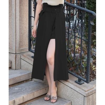 JULIA BOUTIQUE / ウエストベルト付きスリットロングスカート/21023 WOMEN スカート > スカート