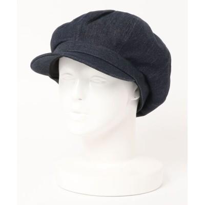 polcadot / デニムキャスケット WOMEN 帽子 > キャスケット