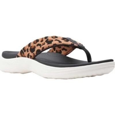クラークス Clarks レディース ビーチサンダル シューズ・靴 Lola Point Flip Flop Black/Tan Interest Textile