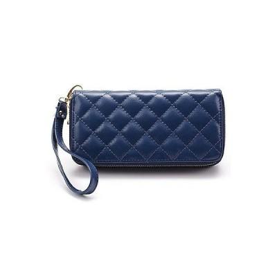 財布 レディース New Real Leather Women's Wallet Argyle Sewing Bifold Pocket Clutch Double zipper