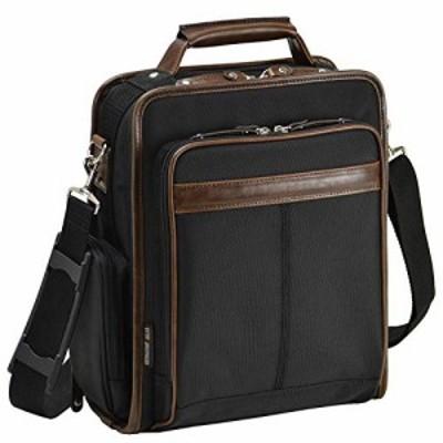 ショルダーバッグ ビジネスバッグ メンズ 斜めがけA4 縦型 2way 軽量 多機能 通勤 黒 ブラック 大容量 横幅25cm