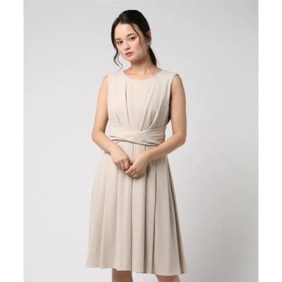 ドレス ウエストデザインシンプルドレス