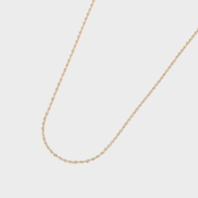 ココシュニック COCOSHNIK 中空ロープ ネックレス (イエローゴールド)