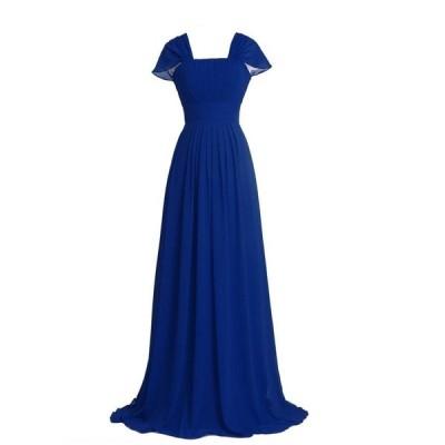 選べる152色(セミオーダー)ケープスリーブロングドレス S004 ブライズメイド ドレス ウェディング 演奏会ドレス 花嫁 二次会