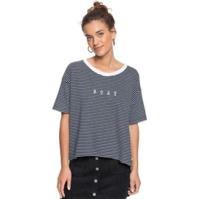 ロキシー Roxy レディース Tシャツ トップス Infinity Is Beautiful B T-Shirt Mood Indigo Me Stripes