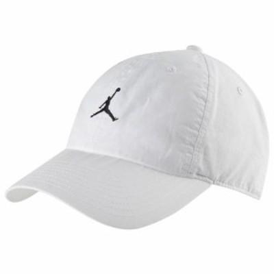 (取寄)ジョーダン メンズ H86 ウォッシュド アジャスタブル キャップ Jordan Men's H86 Washed Adjustable Cap White Black
