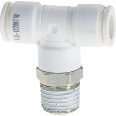 チヨダ ファイブメイルブランチティ W(白)4mm・R1/8【F4-01MTW】(流体継手・チューブ・チューブ継手)