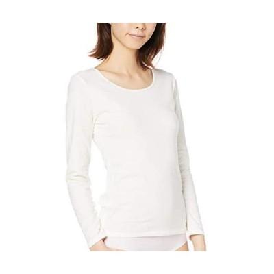セシール  インナーシャツ スマートヒート 背中二重あったか 10分袖 発熱するコットン ぬく綿 UE-1475 (オフホワイト 5L)