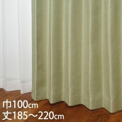 カーテン 遮光カーテン   カーテン ドレープ ライトグリーン 形状記憶 遮光2級 ウォッシャブル 遮熱 巾100×丈185〜220cm TDOS7124 KEYUCA ケユカ