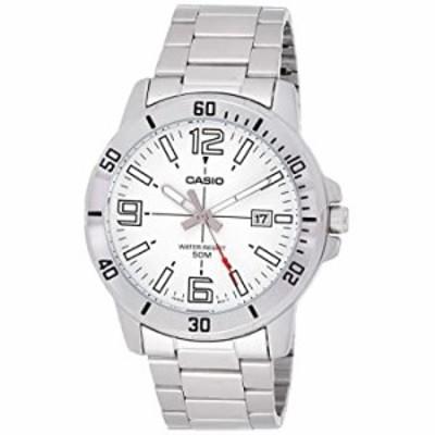 腕時計  カシオ MTP-VD01D-7BV メンズ エンティカー ステンレススチール ホワイトダイヤル カジュアル アナログ スポーツウォッチ