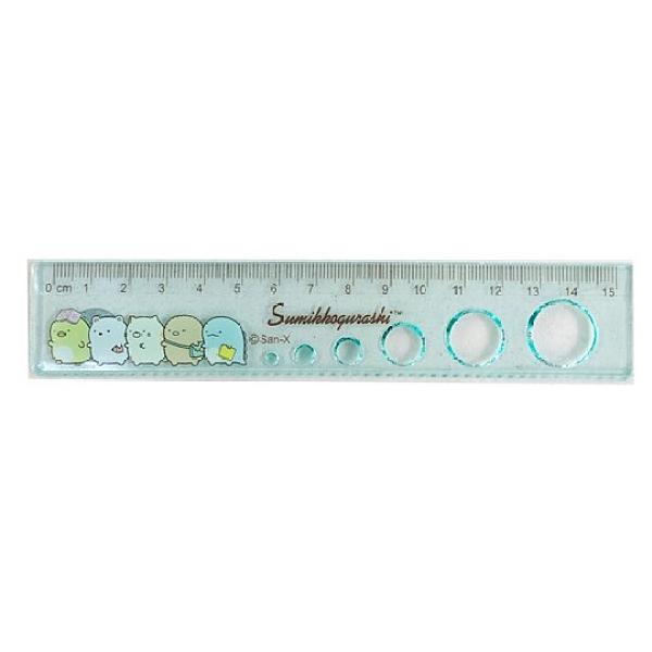 小禮堂 角落生物 透明塑膠尺 圈圈尺 透明尺 直尺 量尺 15cm (綠 書本) 4714551-88592