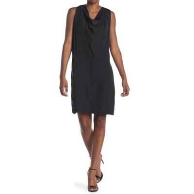 エイチ ホルストン レディース ワンピース トップス Cowl Neck Sleeveless Dress BLACK