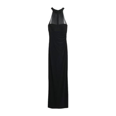 LAUREN RALPH LAUREN ロングワンピース&ドレス ブラック 12 ポリエステル 95% / ポリウレタン 5% ロングワンピース&ド