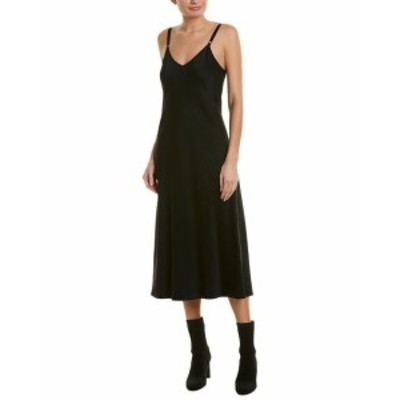 A.L.C.  ファッション ドレス A.L.C. Satin Slit Slip Dress 0 Black