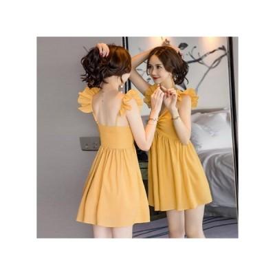 ノースリーブ  パーティードレス フレアスカート ミニ丈 レディース ワンピース お呼ばれドレス kh-0791