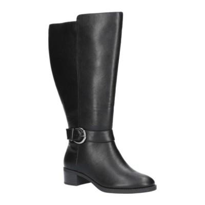 イージーストリート レディース ブーツ&レインブーツ シューズ Victoria Plus Wide Athletic Shafted Tall Boot Black Manmade