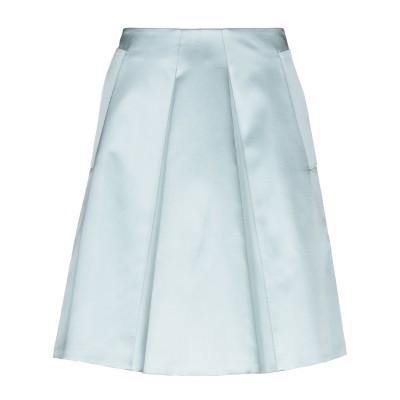 ジョルジオ アルマーニ GIORGIO ARMANI ひざ丈スカート スカイブルー 46 シルク 100% ひざ丈スカート