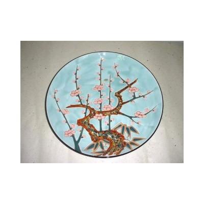 有田焼 大皿 15号 青磁梅 尺5寸 45cm 盛皿 飾り皿 パーティー皿 コレクション。