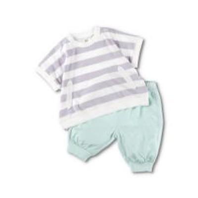 branshes(ブランシェス)半袖ボーダーTシャツ+パンツ【お取り寄せ商品】