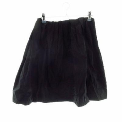 【中古】アーバンリサーチ URBAN RESEARCH スカート フレア ミニ 無地 F 黒 ブラック /CK レディース