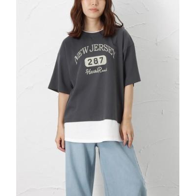 Mac-House / フェイクレイヤードプリントプルオーバー WOMEN トップス > Tシャツ/カットソー