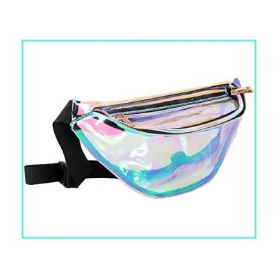 【新品】Fanny Pack for Women Holographic Fanny Pack Iridescent Cute Waist Belt Bum Bag Fashion for Rave Festival Events Games(並行輸入品)