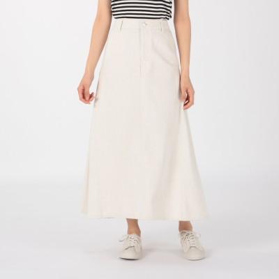 Munich(ミューニック)/10oz white denim maxi skirt