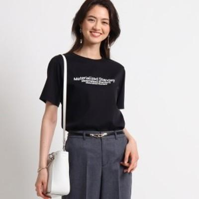 インディヴィ(INDIVI)/[L]【ハンドウォッシュ】ロゴスムースTシャツ