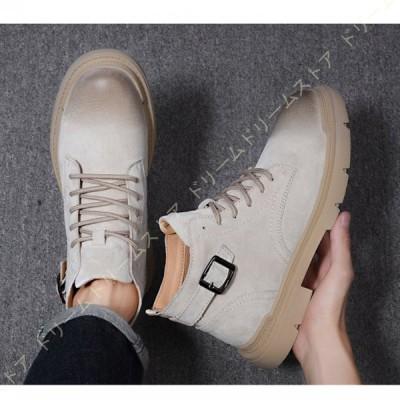ショートブーツ メンズ ブーツ 防滑  男性 メンズブーツ 靴 大きいサイズ オシャレ ファッション ブラック 黒  ワークブーツ  秋 冬  かっこいい 歩きやすい