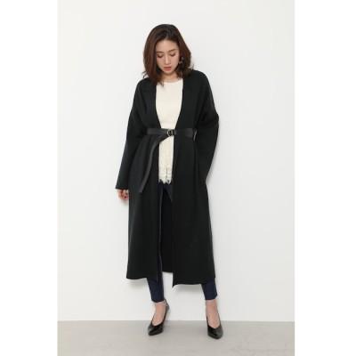 【リエンダ/rienda】 Tailored Collar Knit Jacket