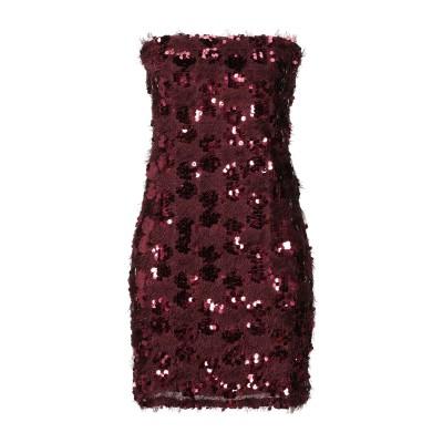 VANESSA SCOTT ミニワンピース&ドレス ディープパープル S ポリエステル 100% ミニワンピース&ドレス